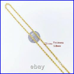 Genuine 22K Gold Rope Chain Necklace 20 Hallmark 916 Lobster Clasp 3.8mm 10.19g