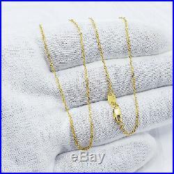 Genuine 22K Solid Gold Chain Necklace 18.5 Singapore 1.22mm 1.85gm Hallmark 916