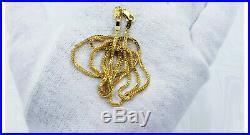 Genuine 22K Solid Gold Chain Necklace 22.25 Foxtail Lobster Clasp Hallmark 916