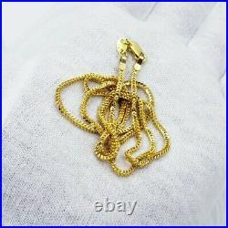Genuine 22K Solid Gold Chain Necklace 22.25 Franco Lobster Clasp Hallmark 916