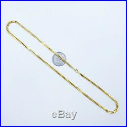 Genuine 22K Solid Gold Chain Necklace Franco 19.75 Lobster Claw Hallmarked 22K