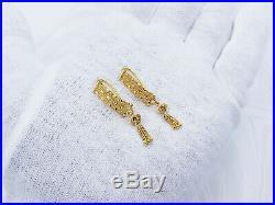 Genuine 22K Solid Gold Earrings Drop Dangle Hallmark 22KT 916 Gorgeous GOLDSHINE