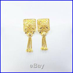 Genuine 22K Solid Gold Earrings Stud Dangler Hallmarked 916 Gorgeous and Unique