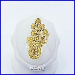 Genuine 22K Solid Gold RING Size US 7.75 Women Hallmark 916 Unique Craftsmanship