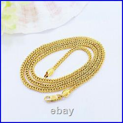 Genuine 22K Yellow Gold Franco Chain Necklace 18.25 Hollow 2.45mm Hallmark 916