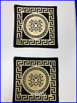 Greek/versace Border Baroque Geometric Pattren Dining Table Mats And Runner