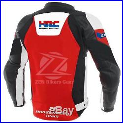 HONDA CBR Motorcycle Racing Leather Jacket Red and Black for men, Women All size