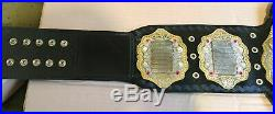 IWGP Heavyweight Championship Leather Belt Adult Size Dual Gold Plated