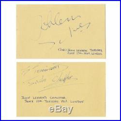 John Lennon 1969 London Autographed Book Page (UK)