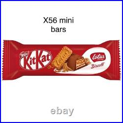 Kitkat Crunchy Lotus Biscoff Spread X56 Mini Bars Chocolate DHL