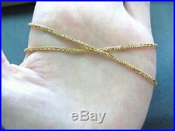 L@@K Fabulous Solid 22K Yellow Gold Fancy links Chain Necklace 26.75 long women