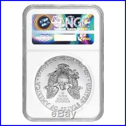 Lot of 5 2017 1 oz Silver American Eagle $1 Coin NGC MS 70 Early Releases