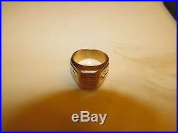 Men's 18K 17 grams SOLID YELLOW GOLD signet Ring size 12
