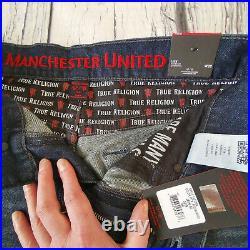 Men's True Religion x Manchester United Jeans 32 x 30 Jack Skinny Leg BNWT £199