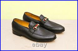 Mens Handmade Shoes Black Leather Formal Dress Casual Wear Boots