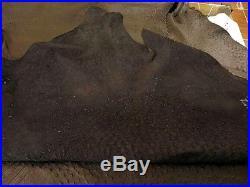 NEW Grade A 100% Genuine Ostrich Skin Finished Leather (Black) (17 Sqft)