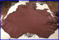 14.5 Sqft NEW Grade A 100/% Genuine Ostrich Skin Finished Leather Dark Brown