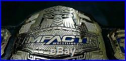 NEW TNA IMPACT WORLD CHAMPIONSHIP CHROME LEATHER Replica BELT