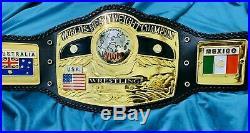 NWA World Heavyweight Wrestling Champion Belt 4mm Zinc Plates