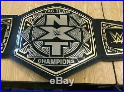 NXT Tag Team Wrestling Championship Belt Adult Size Leather Belt