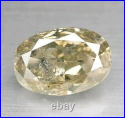 Natural Champagne light Brown Diamond 1.29ct Oval Fancy Untreated 5400$ 1/2off