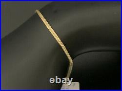 New Real 18K Saudi Gold Chain Bracelet Size 7