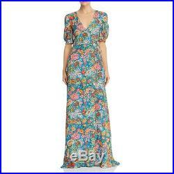 Perseverance London Womens Floral Short Sleeves Maxi Wrap Dress BHFO 9640