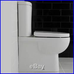 RAK Tonique Close Coupled BTW Toilet with Soft Close Seat White