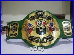 ROH WORLD CHAMPION WRESTLING BELT GREEN (2mm plates)