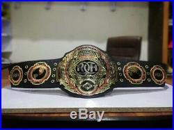 ROH World Heavyweight Wrestling Champion Belt Adult 2mm Brass plate