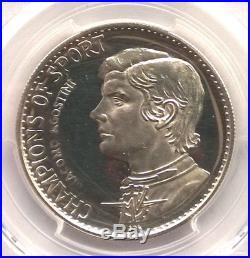 Ras Al Khaimah 1970 Giacomo Agostini 7-1/2 Riyals PCGS Silver Coin, Rare