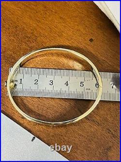 Real 18K 750 Fine Yellow UAE Gold Womens Bracelet Bangle 6-6.5 16cm 11g 6.5mm