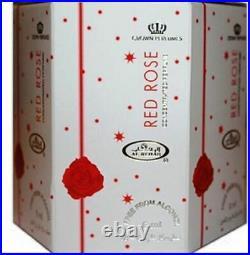 Red Rose 6ml Roll-on Perfume By Al-rehab Crown Perfumes Box Of 6