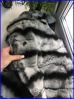 Rex Chinchilla Lapin Fur Coat S