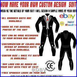 Riding Motorcycle Suit Motorbike Leather Racing Men Women 1 & 2 Pc Custom Design