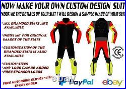 Riding Motorcycle Suit Racing Motorbike Leather Men Women 2 Piece Suit Custom