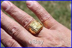 Solid 22K Gold Massive Men Ring 15 Grams 1/2 Oz
