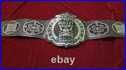 THE ELITTE BULLET CLUB BELT GENIUNE LEATHER METAL PLATED (2mm plates)