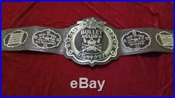 THE ELITTE BULLET CLUB BELT GENIUNE LEATHER METEL PLATED (2mm plates)