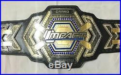 TNA Granp Impact Heavyweight Wrestling Championship Belt Adult Size 2mm Plate