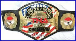 TNA United States Wrestling Championship Belt Adult Size Leather Strap