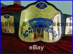 Tag Team Wrestling Championship Belt 2mm Plate Adult Size