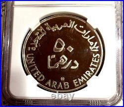 UAE United Arab Emirates 1998 Silver Coin 50 Dirhams UNICEF Children NGC PF69