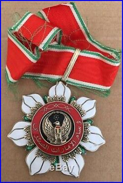 UAE United Arab Emirates Order of Military Merit Neck Badge Medal