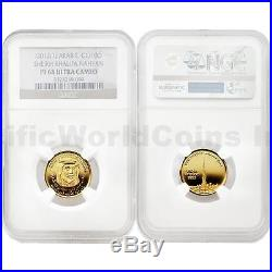 United Arab Emirates 2012 Sheikh Khalifa Nahyan 1/10 oz Gold NGC PF68