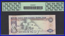 United Arab Emirates 50 Dirhams 1998/AH1419 P22 Uncirculated Graded 68