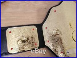 WCW BIG GOLD WORLD HEAVYWEIGHT CHAMPIONSHIP TITLE BELT 4mm brass