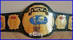 WCW World Tag Team Wrestling Championship Belt Adult Size 2mm Plates