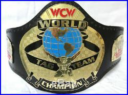 WCW World Tag Team Wrestling Championship Belt Adult Size 4mm Plates