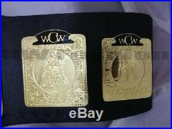 WCW World Television Wrestling championship Belt Adult Size 2mm Plates